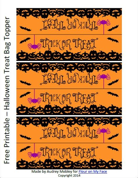 Treat Bag Toppers Printable