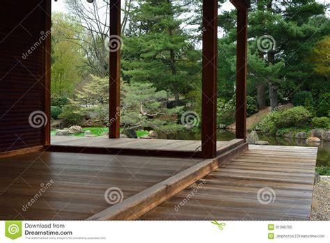 teak wood porch or deck stock photo image 31396750