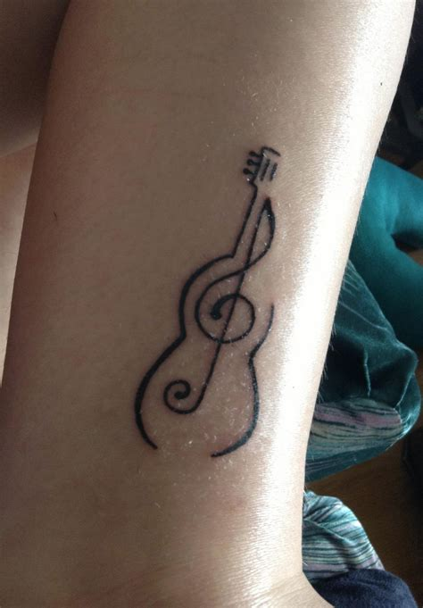 small tattoo design ideas guitar simple but beautiful ink