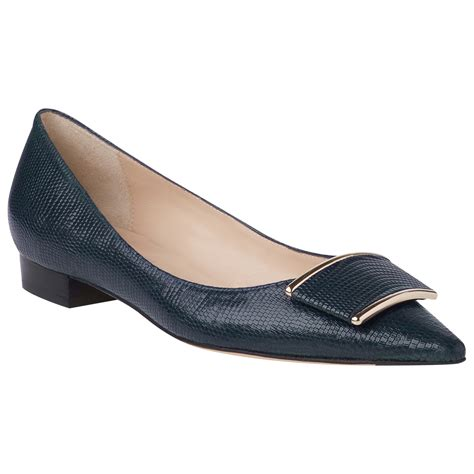 lk flat shoes l k amelia printed flat court shoes in blue navy