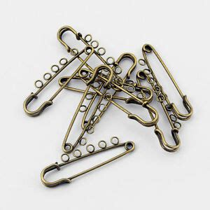 5 x antique bronze 50mm metal kilt safety pin with 5 loops brooch pins jewelry ebay
