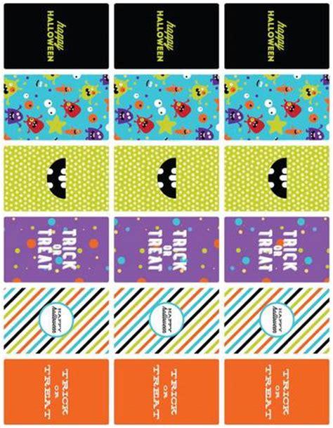 Halloween Monster Mash Mini Chocolate Bar Printable Labels Label Templates Ol800 Mini Label Template