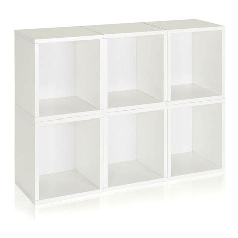 white cube shelving way basics valencia 6 cubes zboard paperboard stackable