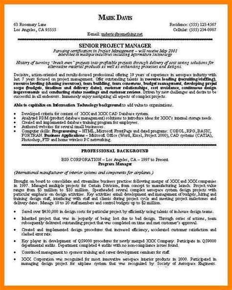 Best Project Manager Resume by 5 Best Project Manager Resume Dialysis