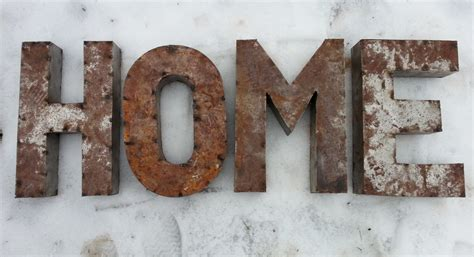 metal letter 14 inch rusted metal letters spelling home crafted