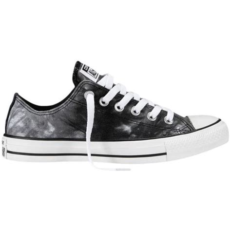 Converse Chuck 2 Low Black White Hitam converse chuck all tie dye low trainers black white found on polyvore top shoes