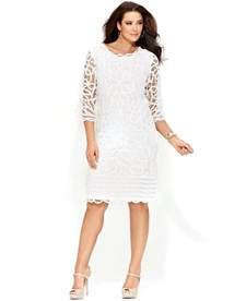 Galerry lace dress sleeves plus size