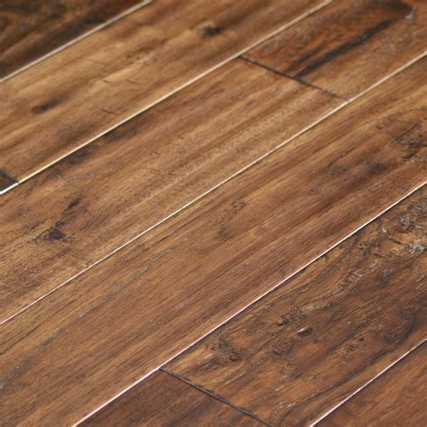 Wood Floor by True Heritage Hickory Caf 233 Scraped Hardwood