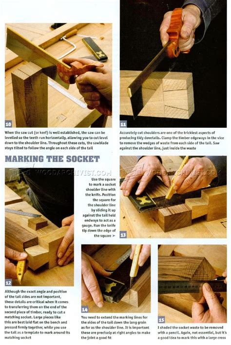 large dovetail joints woodarchivist