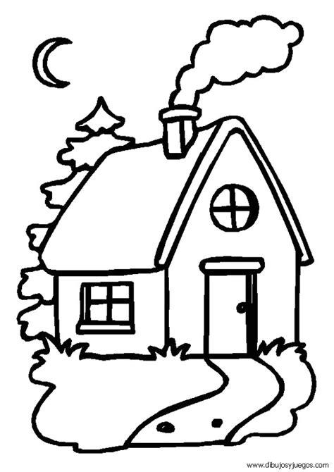 imagenes faciles para dibujar de casas dibujos de casas 001 dibujos y juegos para pintar y