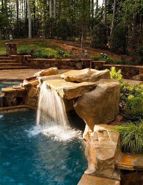 pool waterfall ideas breathtaking pool waterfall design ideas