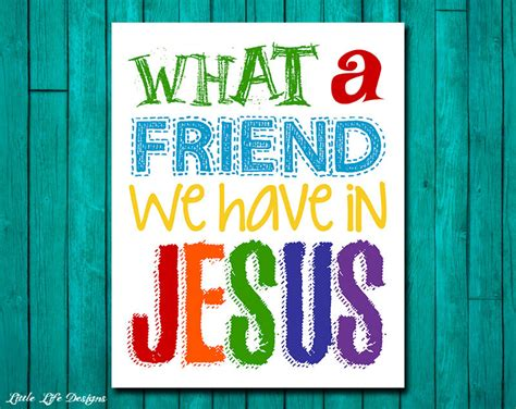 Superhero Wall Mural what a friend we have in jesus church wall art nursery