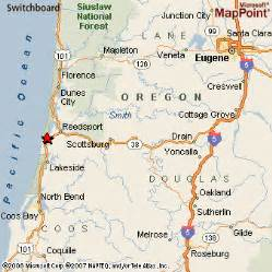 winchester bay oregon map pin map of oregon and physical details maps on