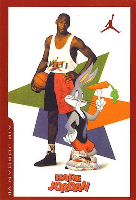 film michael jordan cartoon bugs bunny s pair of air jordan 7 quot hare quot from space jam