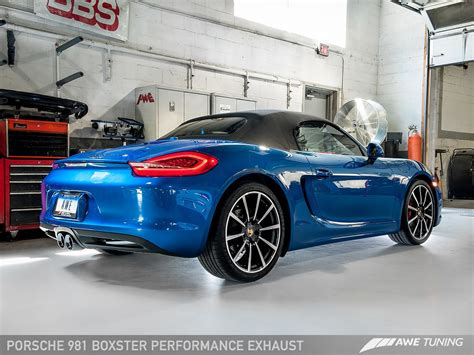 Porsche Boxster S Performance awe tuning porsche 981 boxster s performance exhaust