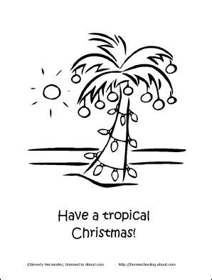 christmas  florida coloring tropical christmas