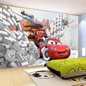 Cars Wall Murals 2016 Custom 3d Cars Wall Mural Wallpaper Papel De Parede