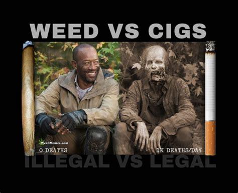 Cigarette Memes - weed vs cigarettes walking dead spoof weed memes 420
