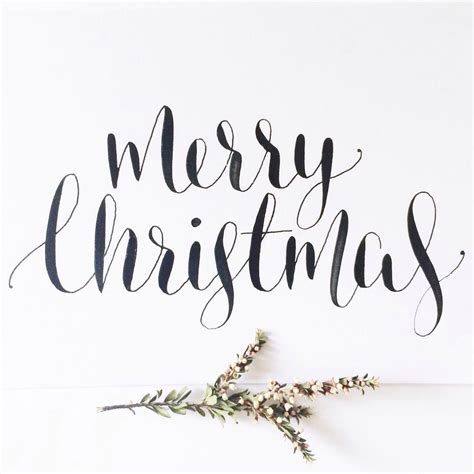 vintagehome christmas lettering christmas calligraphy