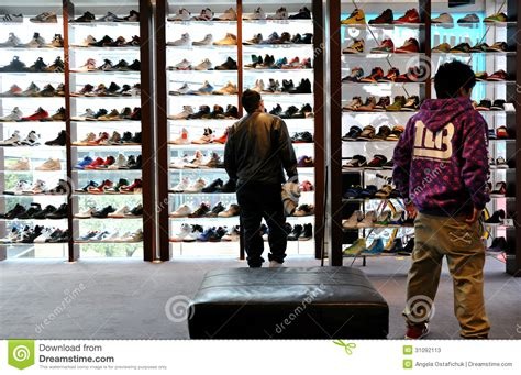 sneaker stores in japanese shoe store editorial stock photo image 31092113