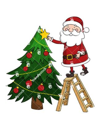 pictures of crismas tree and centaclaus santa claus laughing ho ho ho vector clipart friendlystock