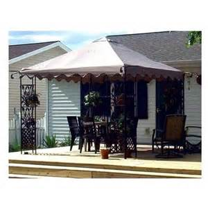 Home Depot Patio Gazebo Home Depot Leaf Motif Scalloped Edged Gazebo Canopy Rakuten