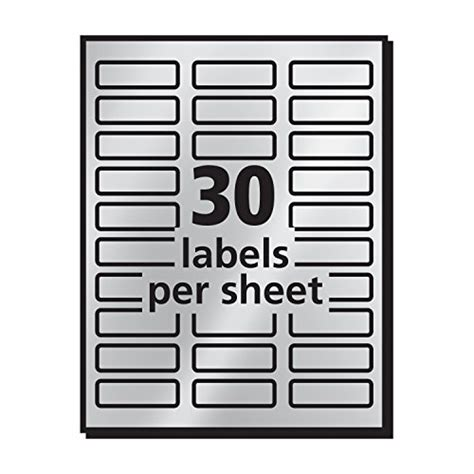 avery foil mailing labels 3 4 x 2 avery silver foil mailing labels for inkjet printers 3 4