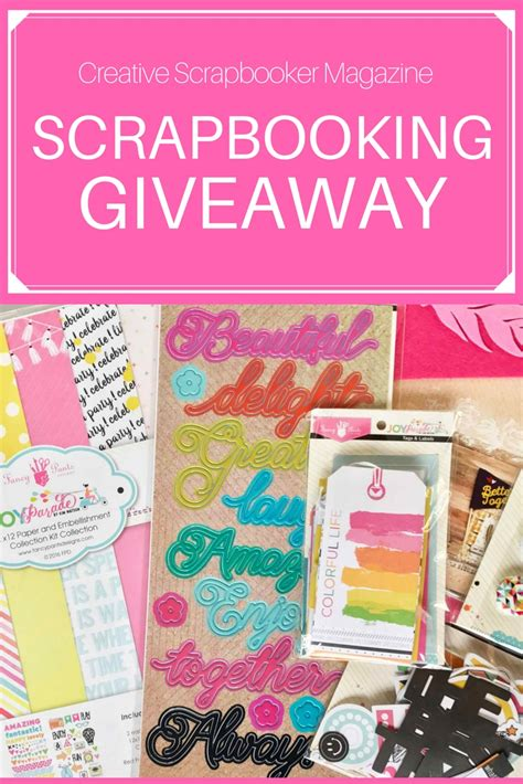 Scrapbook Giveaway - ninabrook paper crafting is this weeks scrapbooking giveaway sponsor