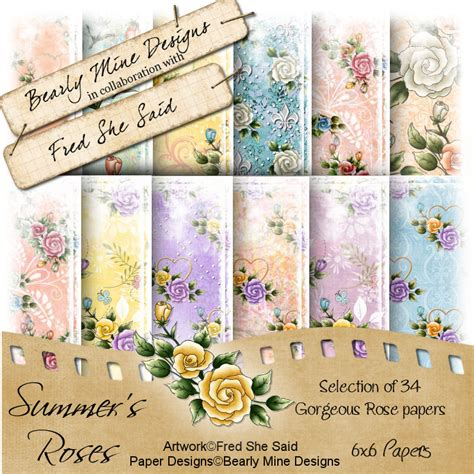 Set Bearly fred she said designs the store summer s roses