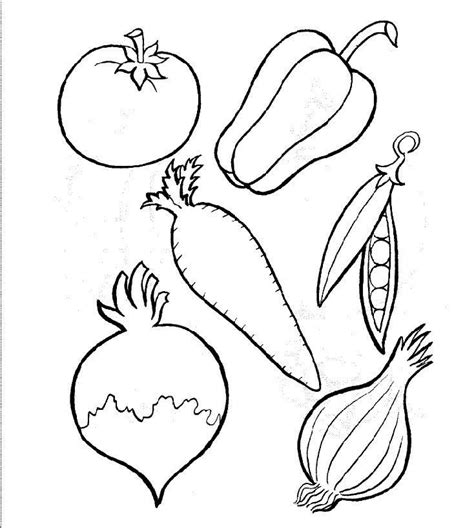 free coloring pages of basket of vegetables