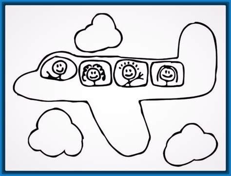 imagenes infantiles avion dibujos para colorear aviones infantiles para imprimir