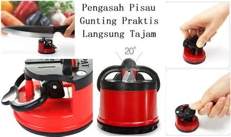 Kitchen Gadget Sucker Sharpener Knife Pengasah Pisau dinomarket pasardino korea with the sucker home sharpener pengasah pisau dan gunting