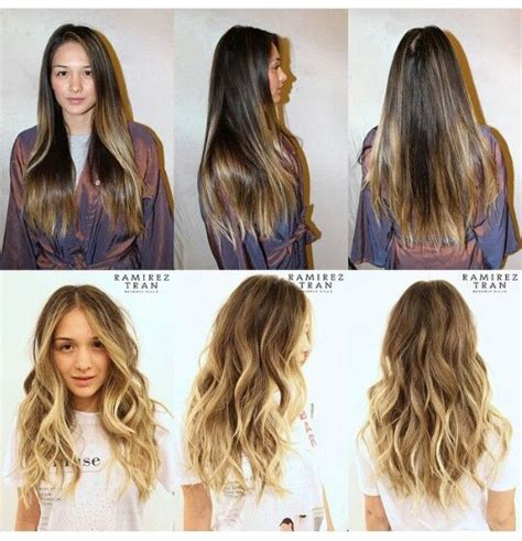 brown hair to blonde hair transformations ombre hair short medium length brown blonde sombre
