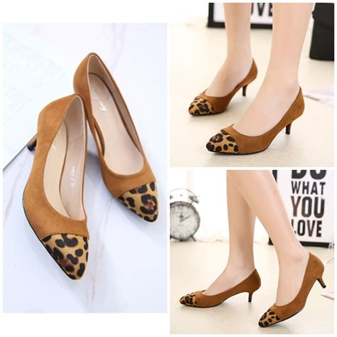 Sepatu High Heels Wanita 5cm Uc03 jual shh99082 brown sepatu heels elegan 5cm grosirimpor
