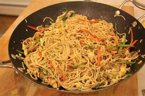 vegetables lo mein vegetable lo mein recipe dishmaps