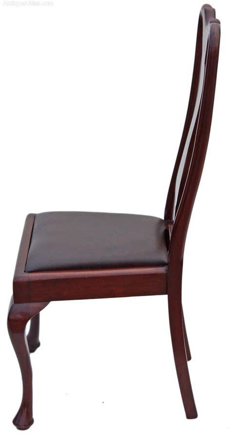 Antique Walnut Dining Chairs Set Of Edwardian Mahogany Walnut Dining Chairs Antiques Atlas