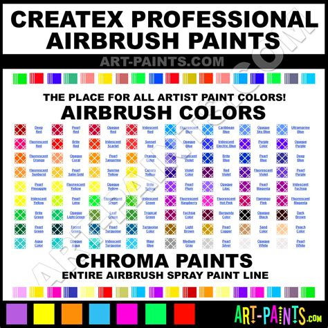 createx professional airbrush spray paint colors createx professional spray paint colors