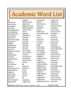 academic word list vocabulary for esl grow