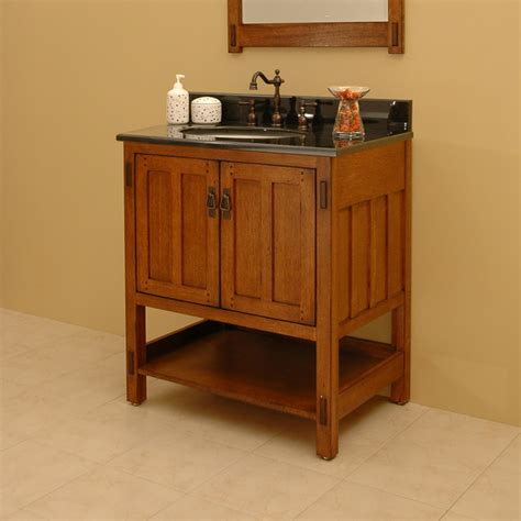 30 quot american craftsman vanity for undermount sink rustic