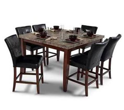 black granite dining table set bobs discount furniture black granite table chairs dining