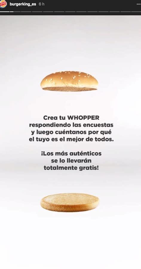 cadenas de instagram stories numeros burger king vende hamburguesas a trav 233 s de instagram stories