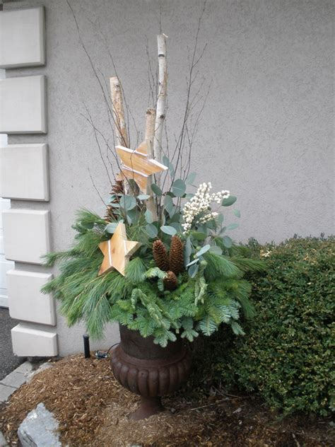 images of outdoor christmas urns urn arrangements for outdoors martin s the flower people