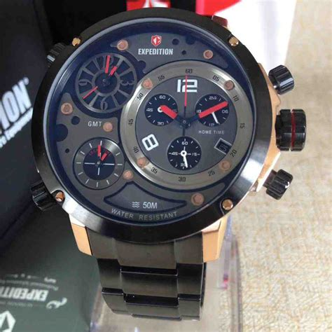 Jam Tangan Pria Expedition Chrono Tgl Aktifon Original 2 jual jam tangan pria expedition 6706 time baru jam tangan expedition terbaru murah
