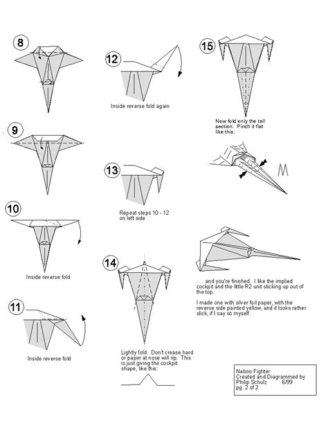 origami starfighter extremegami how to make a origami naboo starfighter