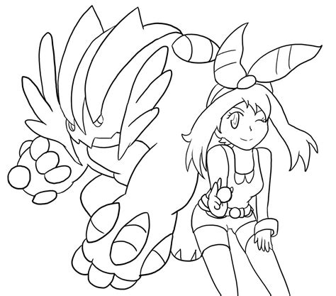 pokemon coloring pages hoenn pokemon of mega swert free colouring pages