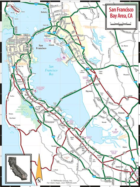 san francisco neighborhood map pdf san francisco bay area ca map