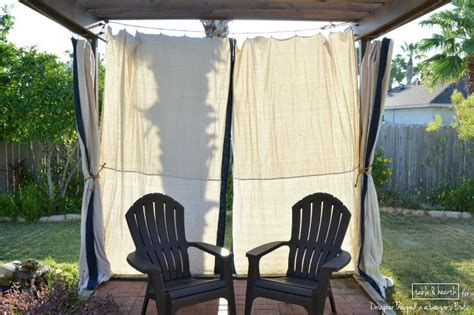 how to make outdoor curtains no sew outdoor curtains designer trapped