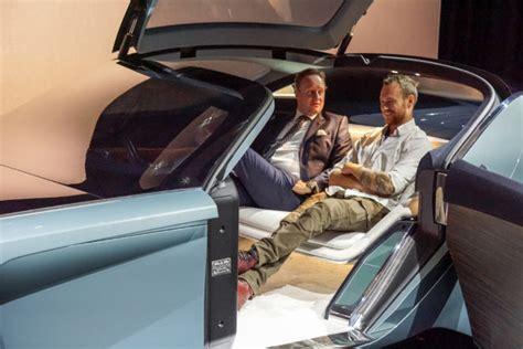rolls royce concept car interior sitting inside the rolls royce 103ex concept automobile