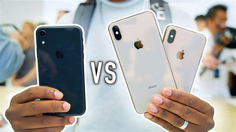 iphone xs xs max  iphone xr whats  difference hands  youtube