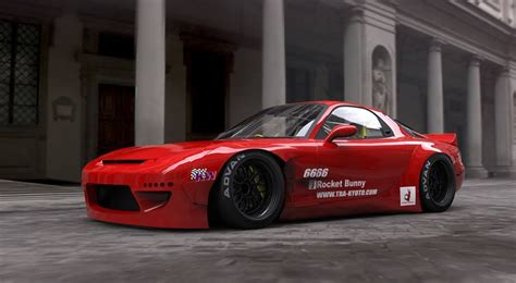 rocket bunny rx7 generation next the rocket bunny x madmike fd3s
